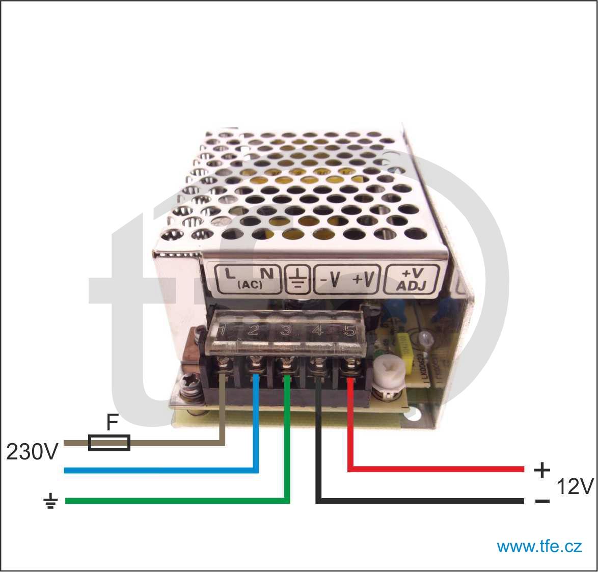 Výkonější zdroj 12V/3A MS3512