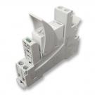 Relé na DIN lištu, 2x přepínací kontakt 250V/8A, cívka 12V