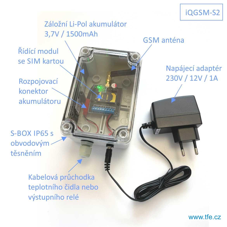 Signalizace výpadku síťového napájení iQGSM-S2
