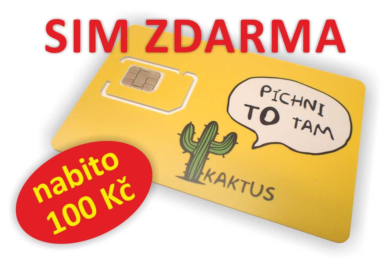 SIM Kaktus ZDARMA ke každému zařízení iQGSM